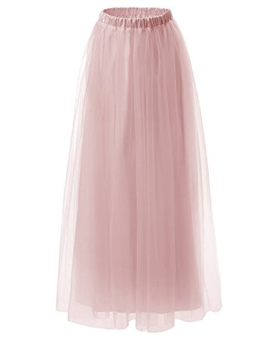Dresstells Long Tulle Skirt Maxi Tutu Skirt Petticoat Floor Length Formal Skirt