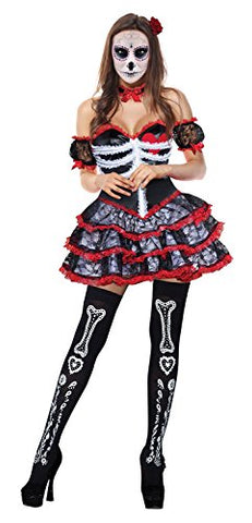 Kimring Women's Skeleton Halloween Outfit Gothic Lolita Dress