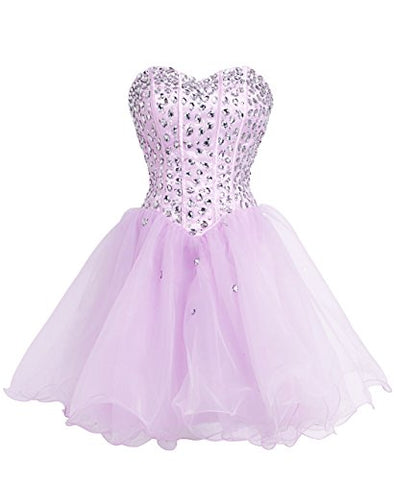 FAIRY COUPLE Strapless Homecoming Dress Short D0147