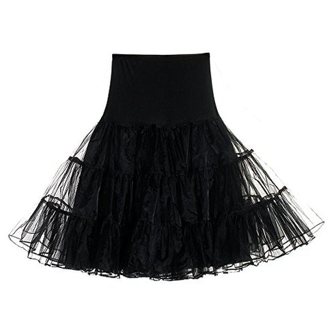 CINDY LOVER Women's Vintage 1950 Rockabilly Jupons Petticoat Tutu Swing Tulle Elastic Waist Skirts 4 tailles