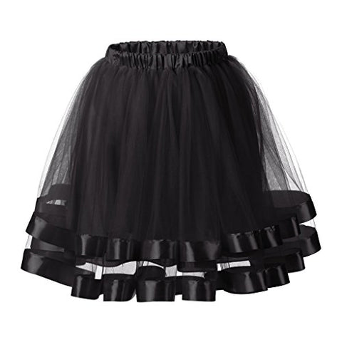 Ellames Women's 1950s Vintage Tutu Petticoat Skirt Prom Evening Occasion Accessory