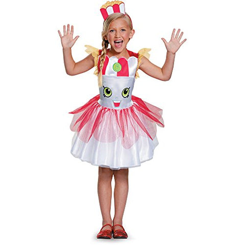Shopkins Poppy Corn Classic Child Halloween Dress Up Costume Dress with Head Piece