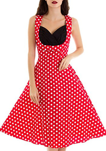 Vintage loves retro Summer Dresses for Women Classic Audrey Hepburn 50s Vintage Swing Dresses
