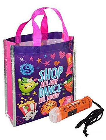 """Shopkins Happy Halloween Trick or Treat Candy Loot Bag!! Plus Bonus ""Safety First"" Mini Halloween Flashlight Necklace!"