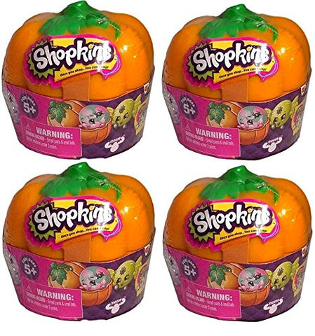 Shopkins Halloween Pumpkin 4 Pack (2 units per pumpkin) Limited Edition