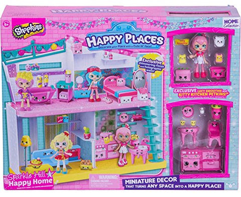 Shopkins Happy Places Sparkle Hill Happy Home with Exclusive Lucy Smoothie Doll