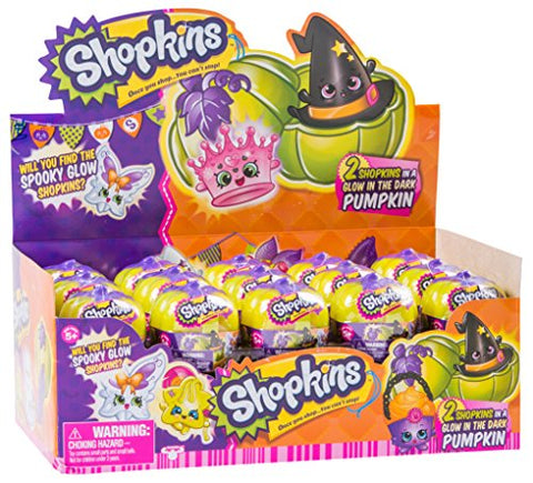 Shopkins Halloween Surprise 2-Pack In Glow In The Dark Pumpkin Carrier - Case of 30