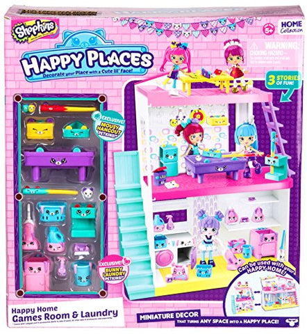 Happy Places Shopkins Home Laundry & Games Room Studio Toy