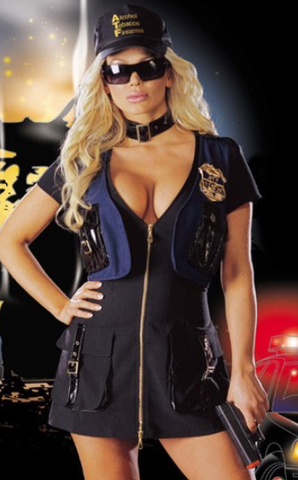 After the Rain Lingerie - y Cop Police Officer Women's Halloween Costume