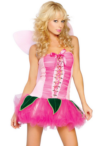 After the Rain Lingerie - Pink Garden Pixie y Women's Halloween Costume