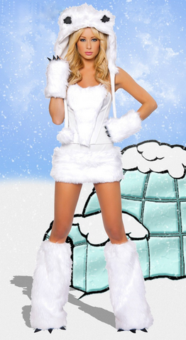 After the Rain Lingerie - Polar Bear y Women's Halloween Costume