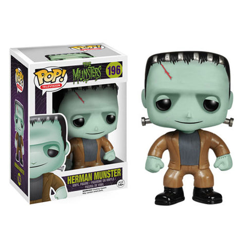 CLEARANCE - FUNKO POP! VINYL COLLECTIBLE 196 THE MUNSTERS HERMAN FIGURE FIGURINE DOLL