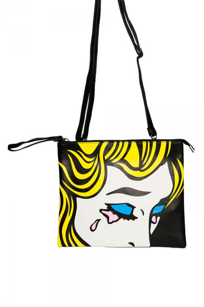 Crying Comic Pop Art Clutch
