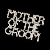 * Brooch 9001 Mother Of The Groom Silver with Rhinestones