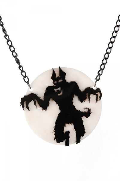 Wolfman Silhouette Necklace
