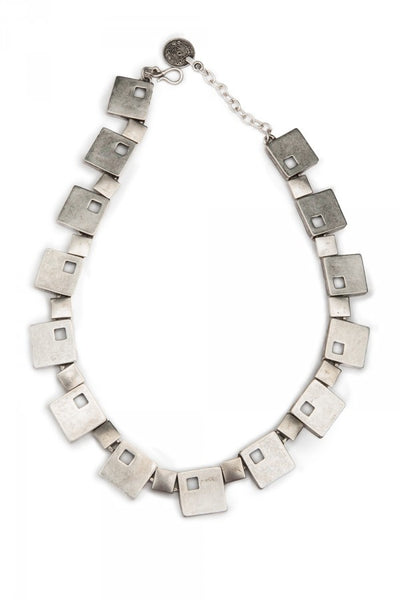 Abstract Elegance Necklace in Pewter