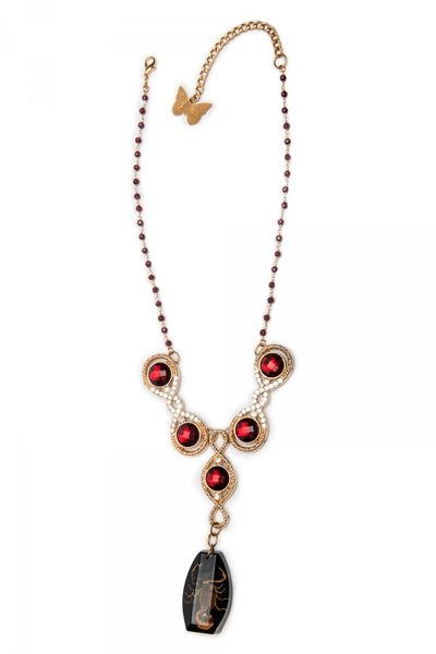 Insect Diva Red Scorpion Necklace