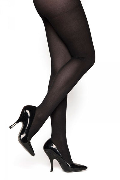 Opaque Nylon Tights in Black