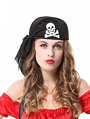 Black Pirates Skeleton Halloween Party Headpiece