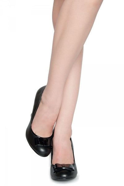 Smitten Pump in Black from Pinup Couture Shoes
