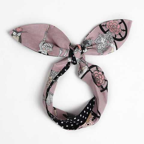 CLEARANCE - MODSQUID STOCK: Rockabilly Hair Scarf Bandana Dolly Bow Tie Up