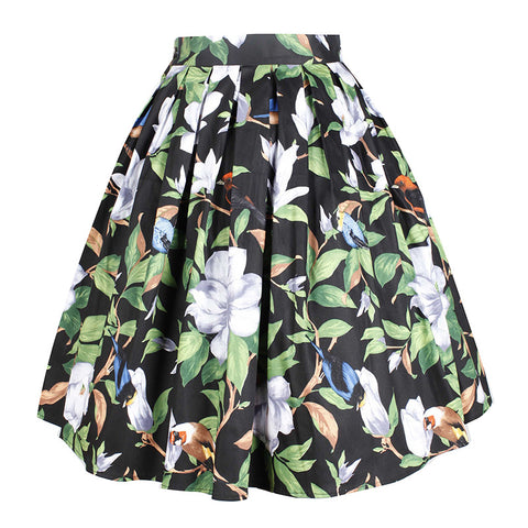 CLEARANCE - MODSQUID STOCK: summer women 's floral Marilyn Monroe print skirt vintage Casual Skirts Retro Female Midi pleated skirts