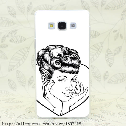 CLEARANCE - MODSQUID STOCK: 2726T i Love Lucy Lucille Ball Hard Cover Case for Galaxy A3 A5 7 8 J5 7 Note 2 3 4 5 Grand 2 Prrime