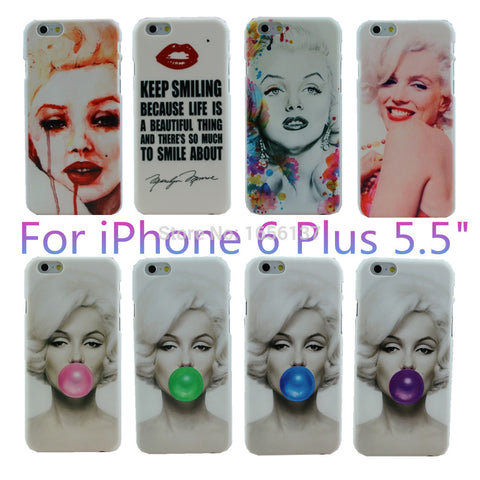 CLEARANCE - MODSQUID STOCK: White Grounding pattern Sexy Marilyn Monroe Bubble Gum Red Lips Style Design Case Cover For Apple iPhone 6 Plus 6S Plus