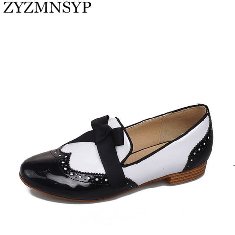 CLEARANCE - MODSQUID STOCK: ZYZMNSYP Casual pointed toe flat womens oxfords shoes for woman ladies summer autumn flats oxford female black white blue flats