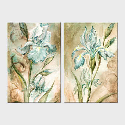 2 Piece Cheap 2015 flowers oil painting Vintage Home Decor canvas painting wall pictures for living room halloween decoration