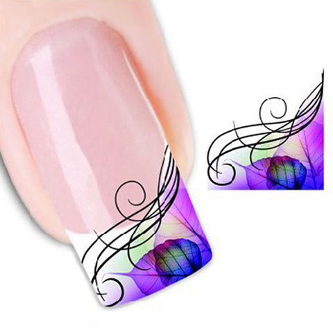CLEARANCE - MODSQUID STOCK: Women's Nail Art Decal Half Wrap Water Transfer Stickers DIY Manicure Tool