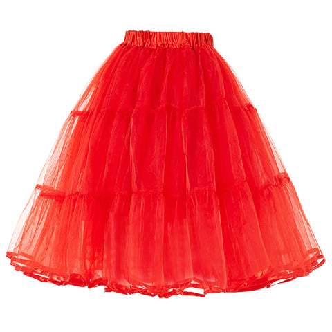Belle Poque Women Tutu Skirts Crinoline Petticoat 50s Retro Vintage Wedding Petticoats Red White Black Ruffle Underskirt 2017