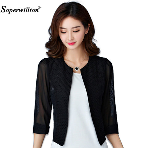 Soperwillton New 2017 Women Coat Fashion Candy Color Overcoat Slim Thin Short Basic Jacket Women Outerwear Casual Tops #A979