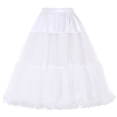 Belle Poque Good Quality Fashion Women Luxury Retro Underskirts Solid Vintage Crinoline Empire Petticoat Rockabilly Soft Skirt