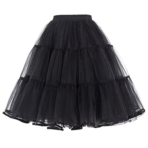 Belle Poque 2017 New Arrival Retro Petticoat Skirt Women Knee-Length Vintage Femme 50s Party Prom Two Layers Voile Underskirts