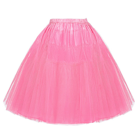 Belle Poque Colorful Women Fashion 50s 60s Retro Petticoat Mid Vintage Crinoline Femme Saias Party Prom Two Layers Swing Skirt