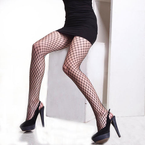 Sexy Sexy Mesh Hollow Out Pantyhose Female Tights Stocking Ladies Slim Nylons Fishnet Stockings Club Party Hosiery Sexy Lingerie