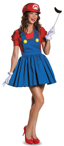2016 New Halloween Super Mario Bros.Costume Adults Women Anime Cosplay Super Mario Costume Disfraces Adultos Carnival Costume