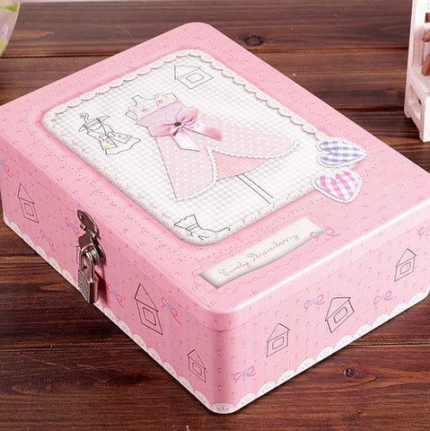 CLEARANCE - MODSQUID STOCK: Zakka tin box control private hidden objects receive a case Cosmetic Box Metal Jewelry Acrylic Makeup Organizer 18*25*8.5cm