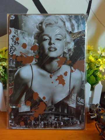 CLEARANCE - MODSQUID STOCK: Vintage metal painting retro metal tin sign 20cm*30cm Blood Marilyn Monroe posters wall stickers home cafe bar pub wall decor
