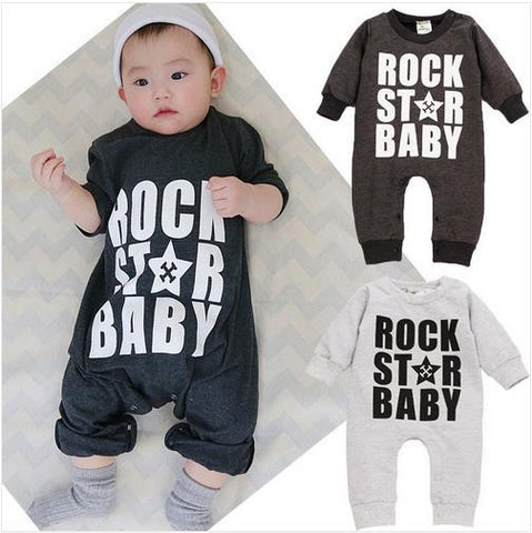 Boys Newborn Clothes Baby Rompers Clothing Printed Rock Star Baby Ropa Bebe Roupas Meninos Baby Halloween Costume