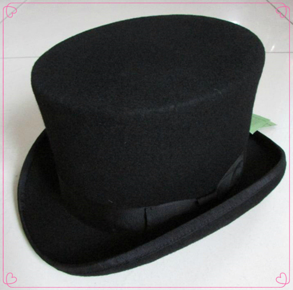2804876de857bf 13.5cm(5.3inch) Steampunk / Mad Hatter Top Hat , Victorian Vintage  Traditional ...