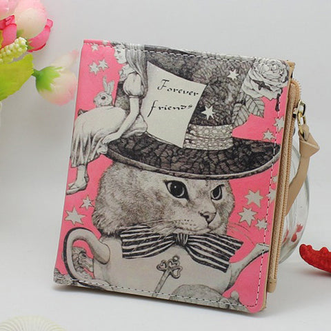 CLEARANCE - MODSQUID STOCK: Summer Style Vintage Marilyn Monroe Cartoon Cat Women Wallets Brand Female Thin Wallet Zebra Carteira Feminina Clutch