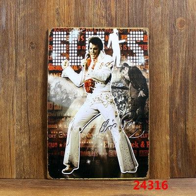CLEARANCE - MODSQUID STOCK: Elvis Presley 1318 Wall Stickers Decor Iron Retro Tin Metal Signs Plaques 20*30cm