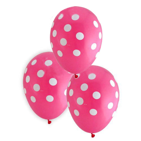 10PCS or 20PCS Latex balloon Dot Polka dots Black Pink white kid birthday Home Party Supplies 2016 New Cute Useful