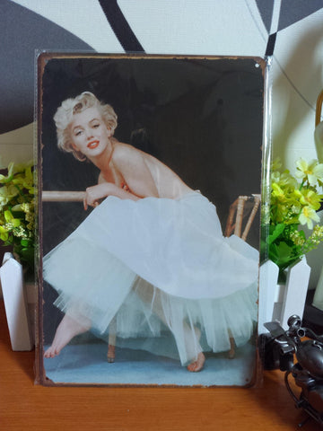 CLEARANCE - MODSQUID STOCK: Vintage metal painting retro metal tin sign 20cm*30cm Marilyn Monroe 3 art posters wall stickers home cafe bar pub wall deco
