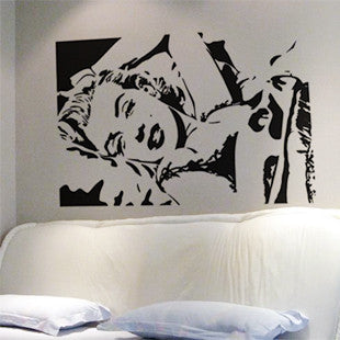 CLEARANCE - MODSQUID STOCK: Wholesale Wall stickers Home Decor 560mm*840mm PVC Vinyl Removable Art Mural Marilyn Monroe M-60