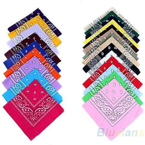 CLEARANCE - hip-hop bandanas for Male female men women head scarf Scarves Wristband New Cotton 100% 01UW Alternative Measures