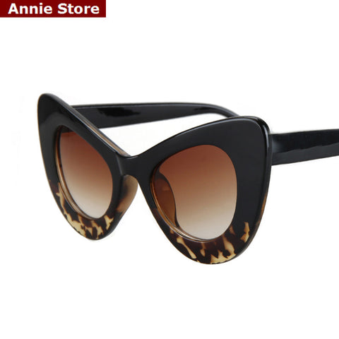2016 cat eye vintage sunglasses women top fashion white oversized sexy cat eye sunglasses for women black red lentes de sol