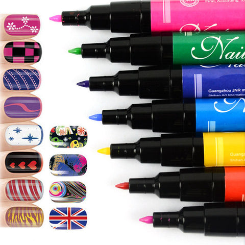 CLEARANCE - MODSQUID STOCK: Y&S 19 Colors Nail Art Pen for 3D Nail Art DIY Decoration Nail Polish Pen Set 3D Design Nail Beauty Tools Paint Pens